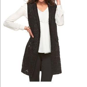 !!HOST PICK!! Lacy black vest